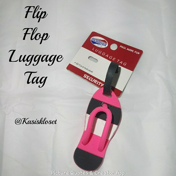 American Tourister Accessories - 🎈4/$20🎈American Tourister Flip Flop Luggage Tag